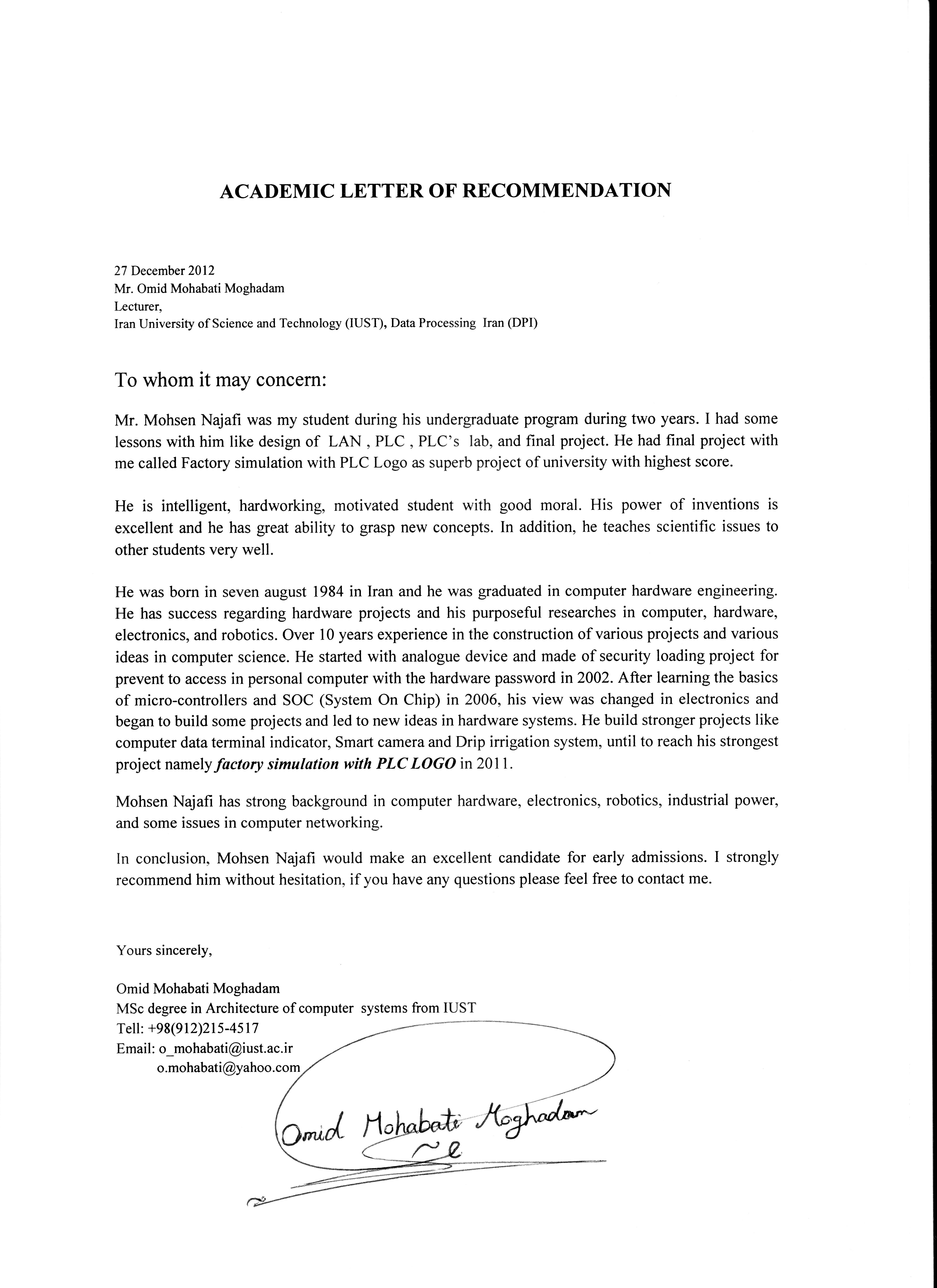 computer science recommendation letter - Monza berglauf-verband com